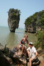 Líbánky v Thajsku - ostrov Jamese Bonda