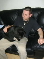 Toto je moj buducomanzel s macickou, ktoru som ukradla susedom (nebojte, uz je doma)