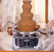 čokoládová fontána-nebude chybět