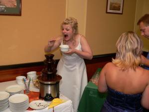 byla i čokoládová fontána