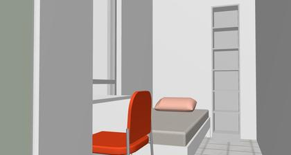 Pokoj aupairky - od vstupu