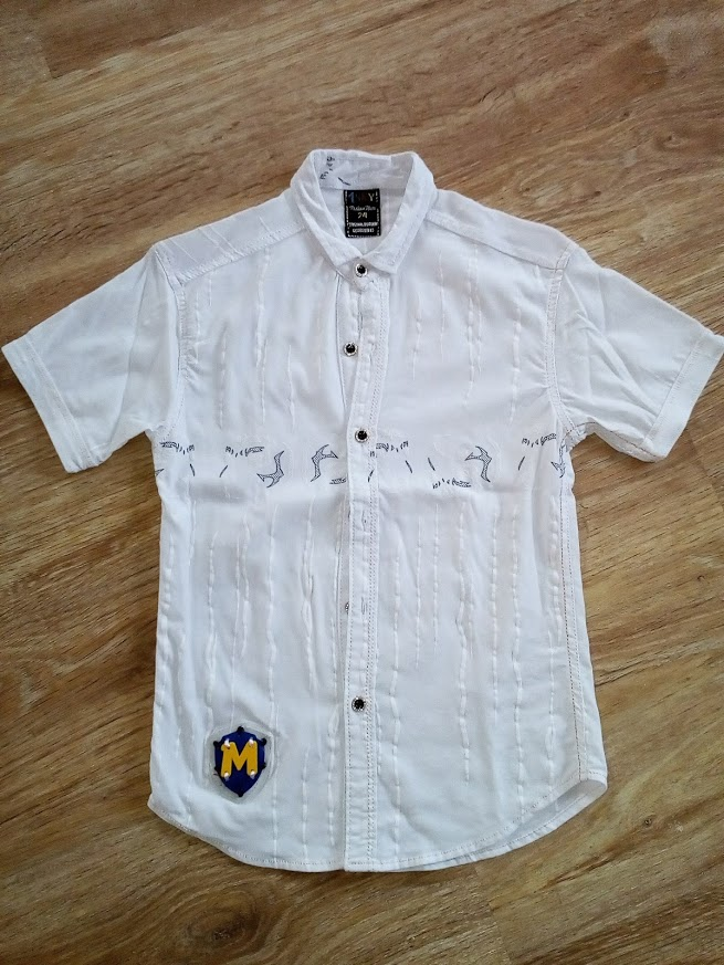 Chlapecká bílá košile vel. 140 - Obrázek č. 1