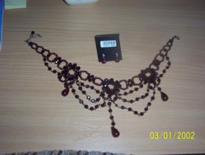 náhrdelník a naušnice k popolnočným šatám