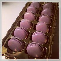 Čokoládové makronky.