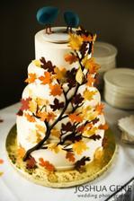 Svatební dort - místo lístků ale dám knoflíky