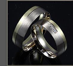 Prstýnky budou podobné- bílé a červené zlato+diamant