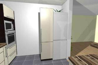 skřínku s lednicí vyměním, přemýšlím, jestli by pak nebyla lepší menší výsuvná...