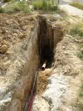 napojení kanalizace