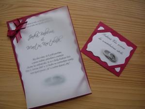 A takhle jsem si vyhrála s naším svatebním oznámením ...