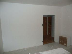 Obývačka vymaľovaná