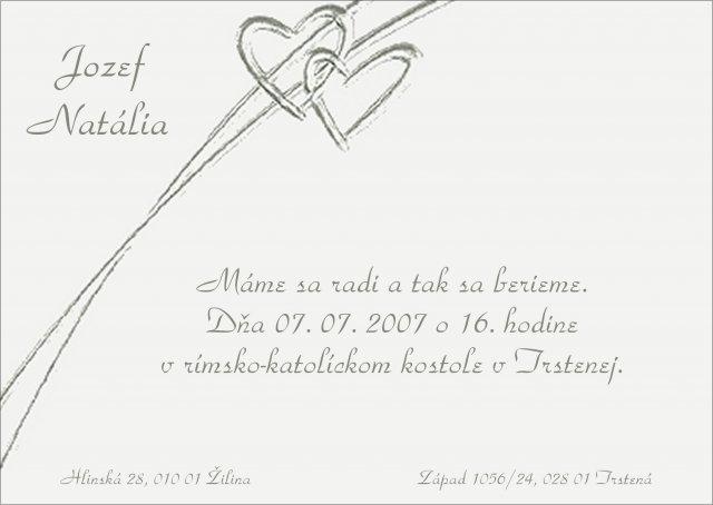 Náš svadobný deň - Naše krásne oznámenie :-) teraz už len vytlačiť