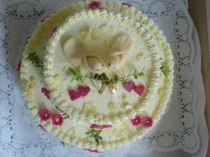 Náš dort - jsem na něj pyšná :-)
