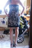 čierno-biele šaty, 36