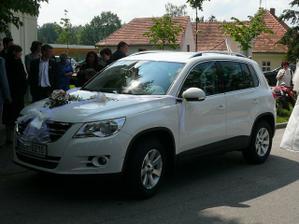 Půjčené auto pro nevěstu Volkswagen Tiguan