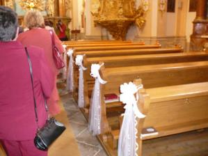 Výzdoba kostela se nám moc povedla