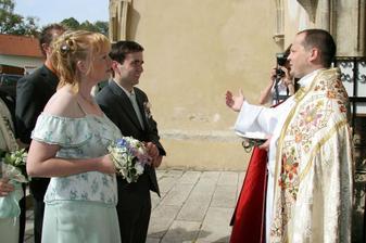 přivítání od pana faráře, moc milého člověka