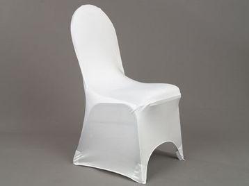 Prenájom - univerzálny návlek na stoličku biely - Obrázok č. 1