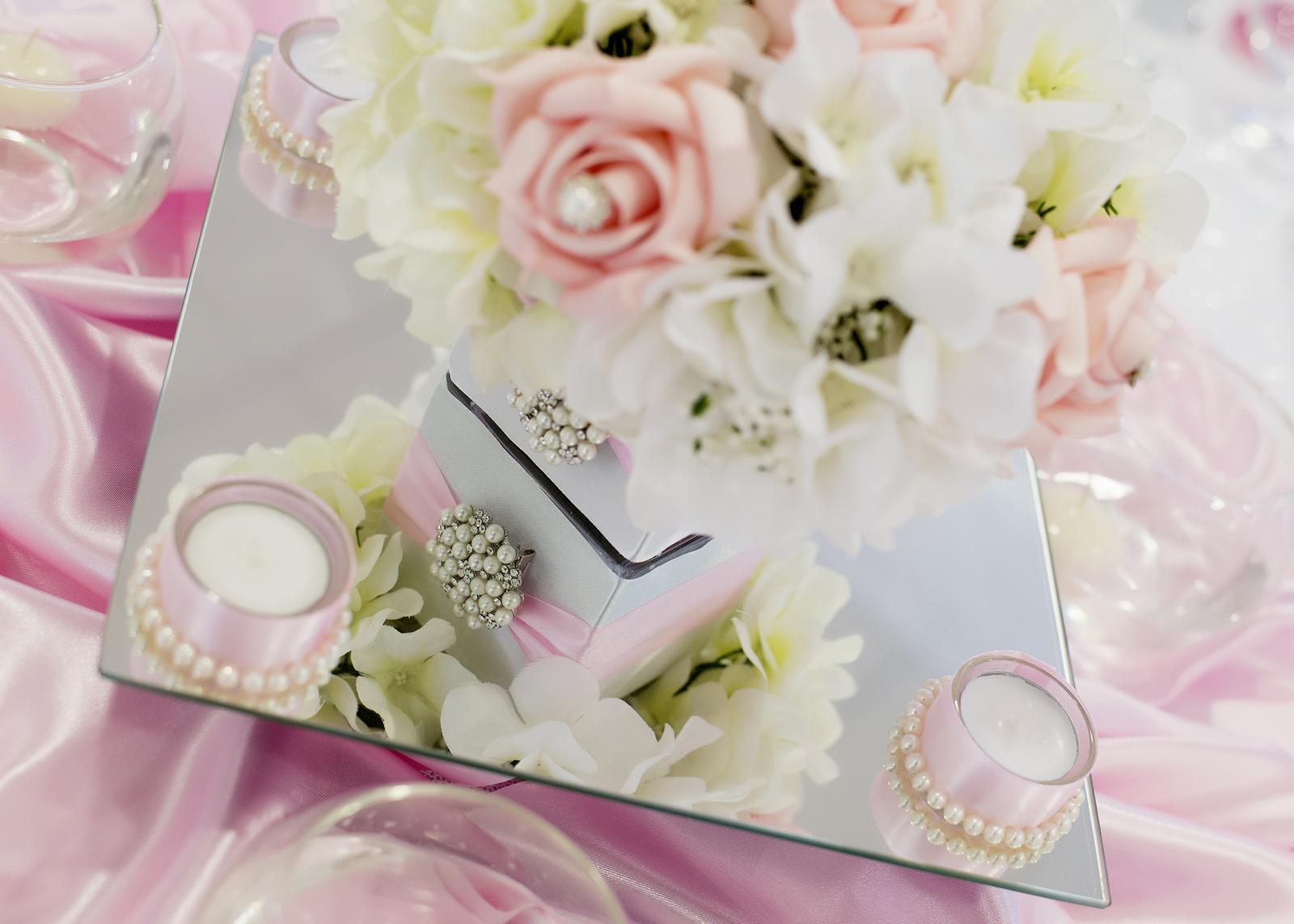 prenajom - saténová ružová mašľa na stoličku - Obrázok č. 3