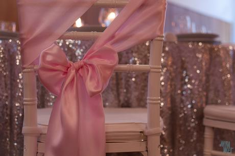prenajom - saténová ružová mašľa na stoličku - Obrázok č. 1