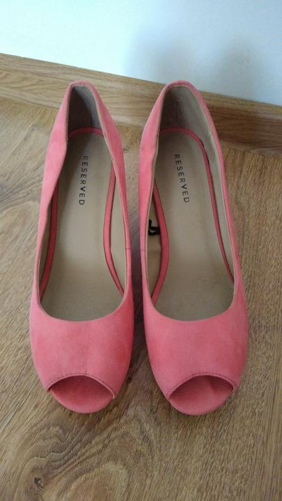 Lososové topánky na platforme - Obrázok č. 1