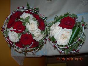 Kytičky nevěsta a družička