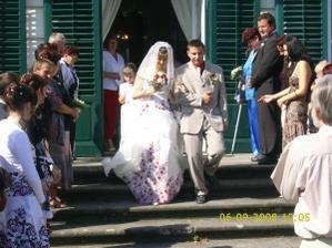 Novomanželé Bořilovi
