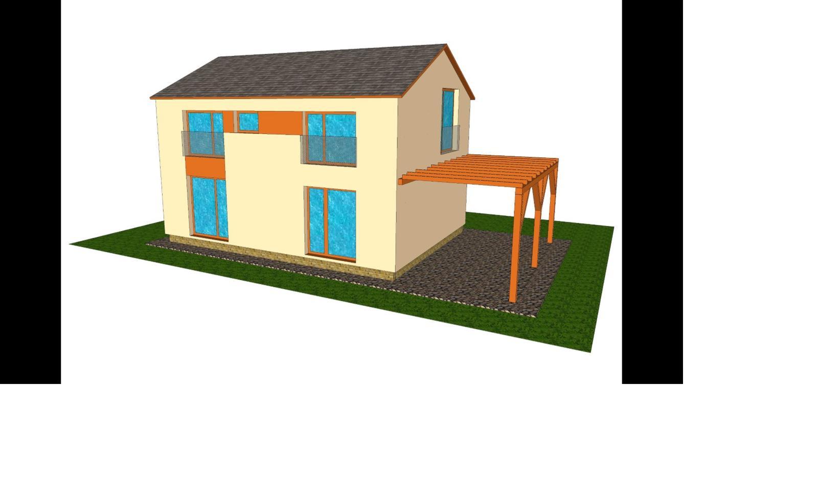 Varianta s terasovými dveřmi... - Obrázek č. 1