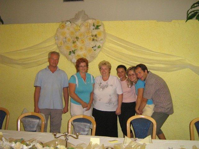 Janka PASTVOVÁ{{_AND_}}Palko POBEHA - pani Marcelka,ktorá nám ju zdobila, ďakujeme!