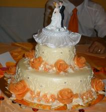 náš svatební dort-vynikající