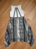 Bílo-černé šaty, XS