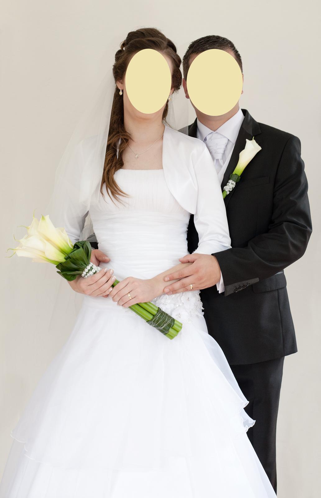 Na mieru šité svadobné šaty (veľkosť 36 - 46) - Obrázok č. 1