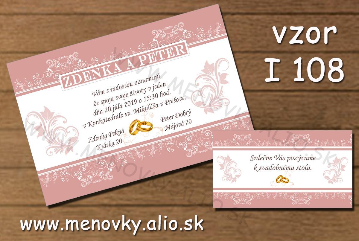 Svadobne oznamenia - oznamenia a pozvanky k stolu