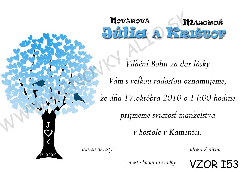 svadobne oznamenia - v tyrkysovo-modrej farbe - Obrázok č. 4