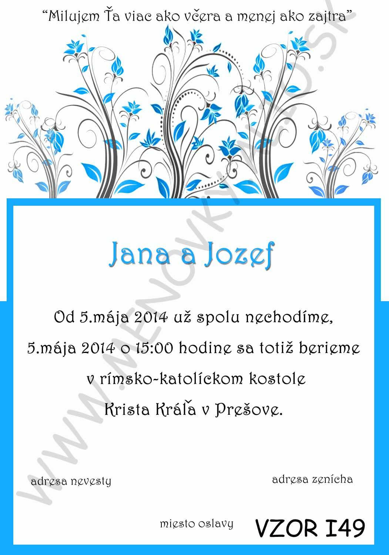 svadobne oznamenia - v tyrkysovo-modrej farbe - Obrázok č. 3