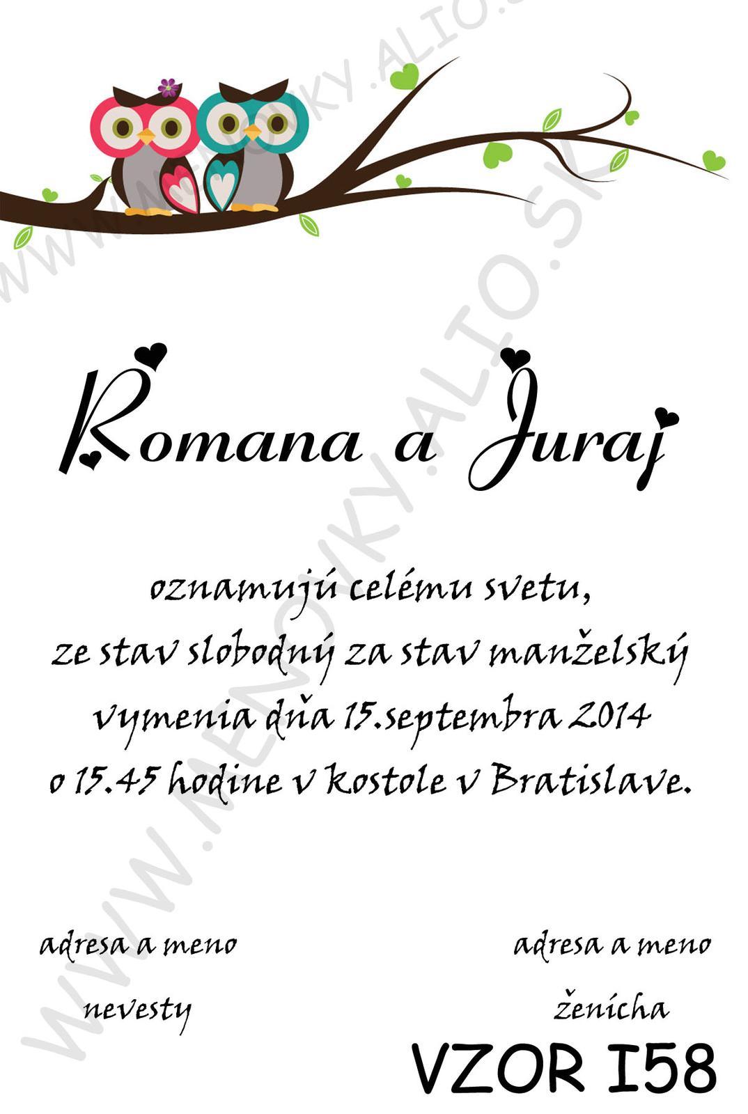 svadobne oznamenie sova - Obrázok č. 1