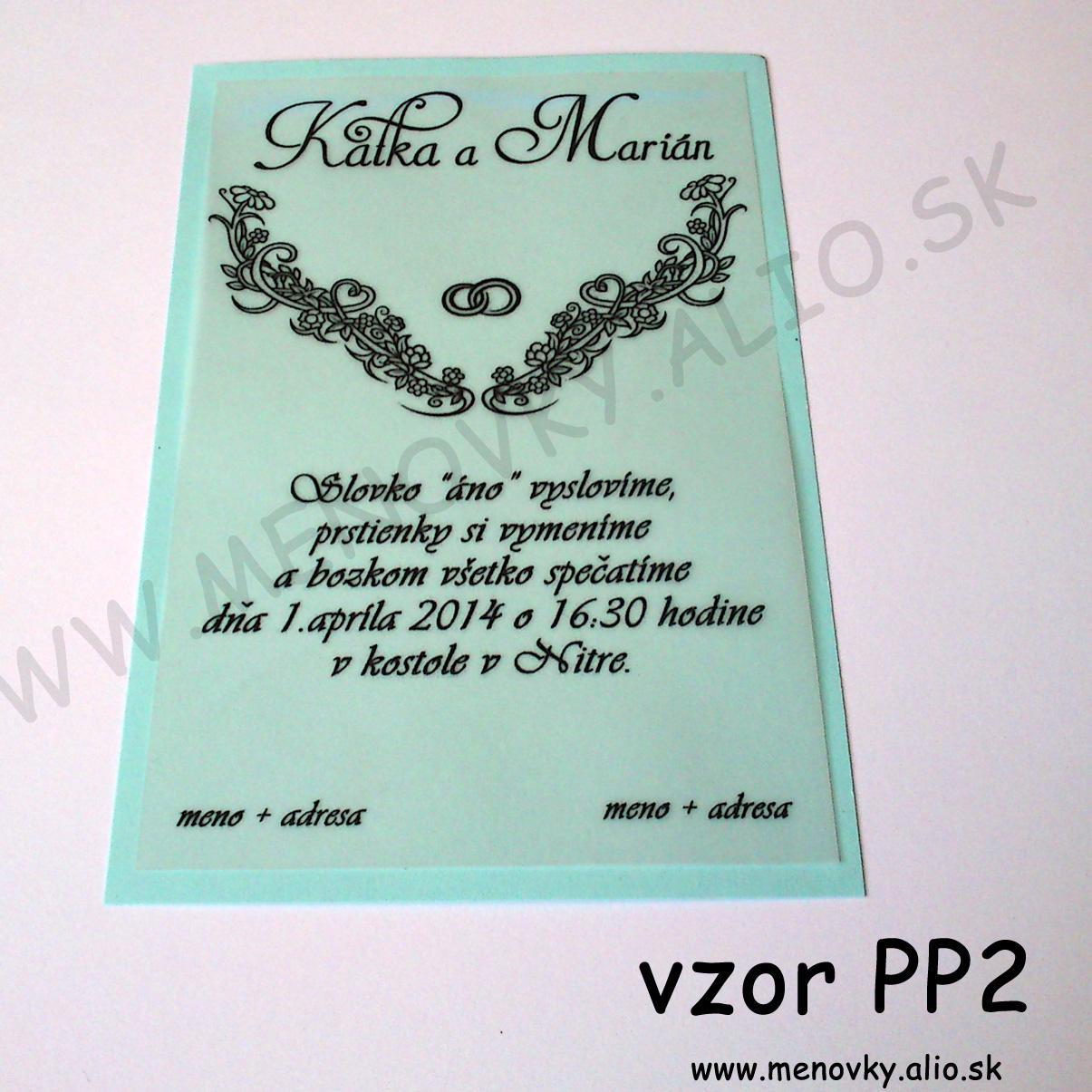 svadobne oznamenie s pauzovacim papierom - Obrázok č. 2