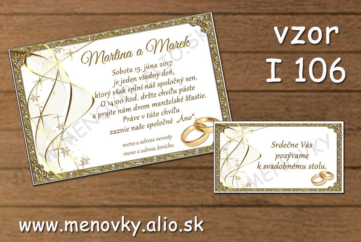 svadobne oznamenie a pozvanka k stolu - Obrázok č. 1