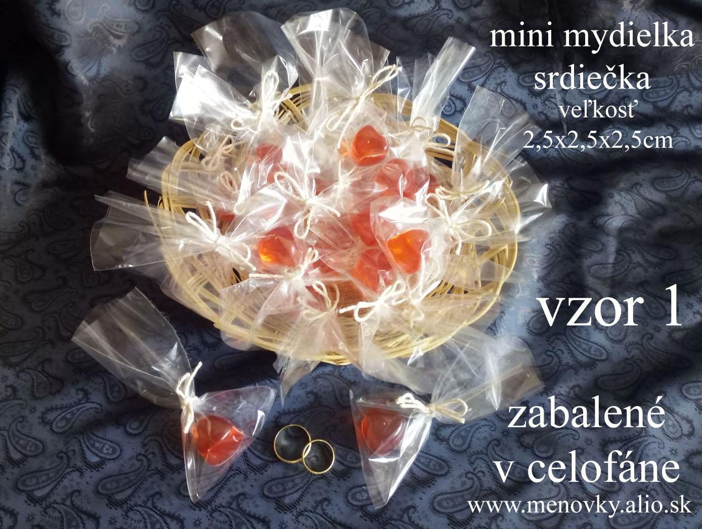Svadobne mini  mydielka - glycerinove - Obrázok č. 2