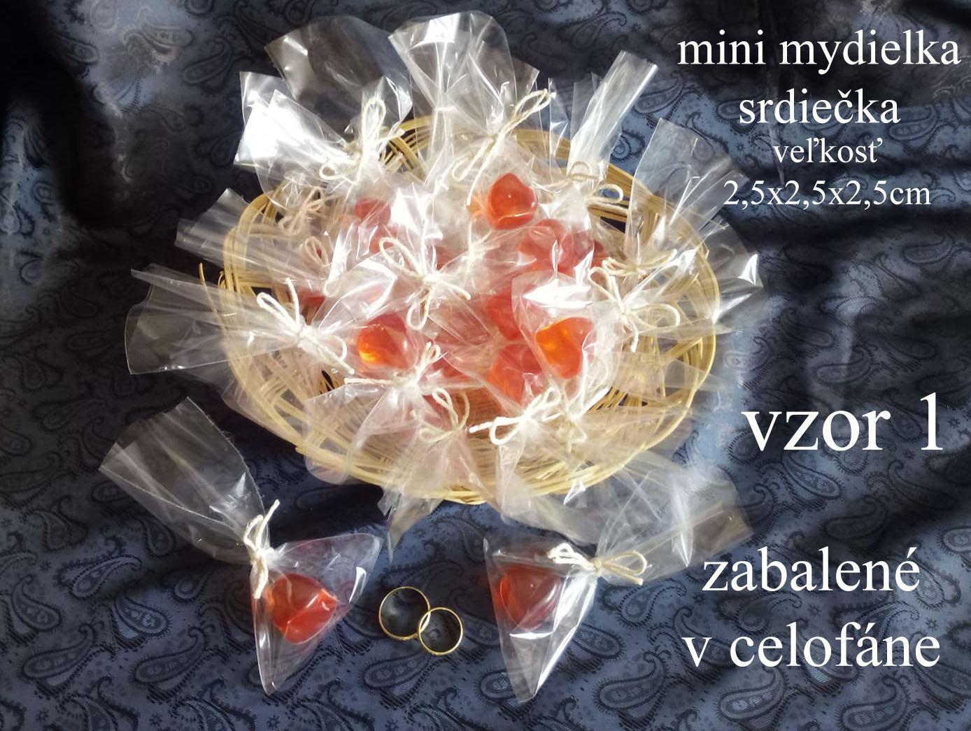Svadobne mini  mydielka - glycerinove - Obrázok č. 3