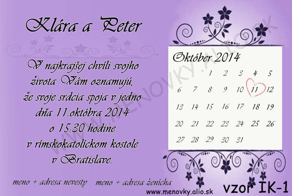 svadobne oznamenia s kalendarom - Obrázok č. 3