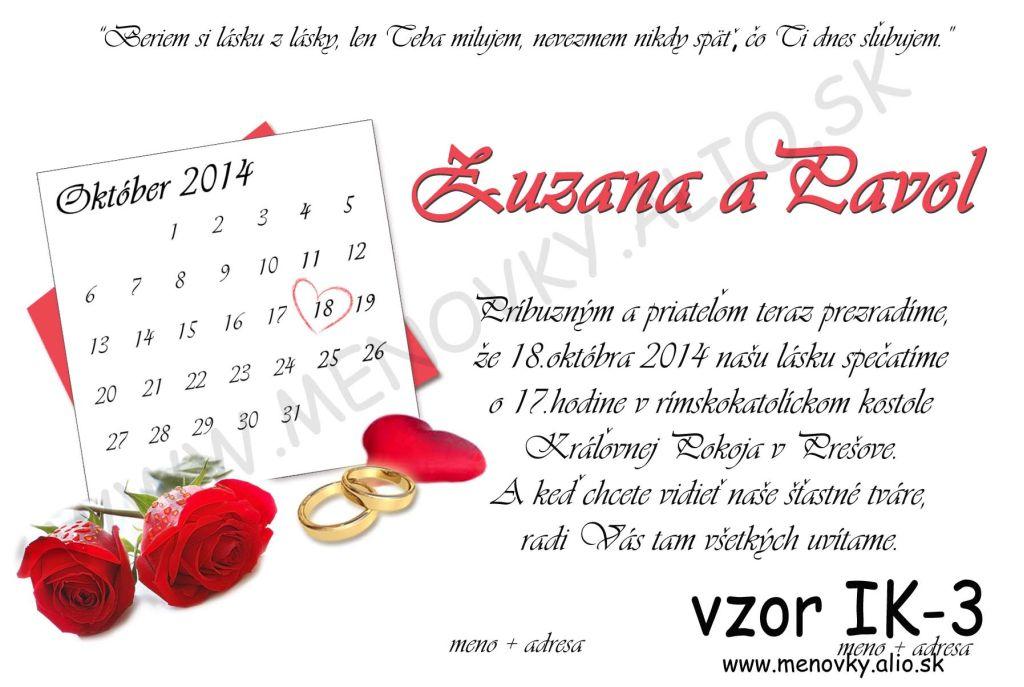 svadobne oznamenia s kalendarom - Obrázok č. 1