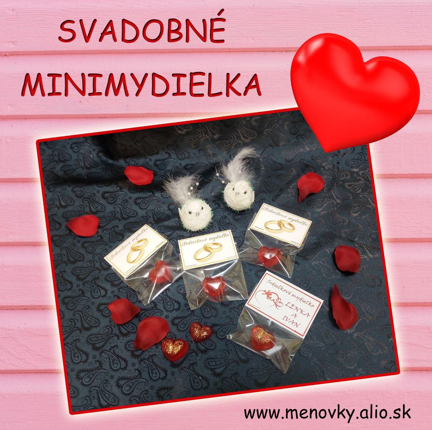 Svadobne mini  mydielka - glycerinove - Obrázok č. 1