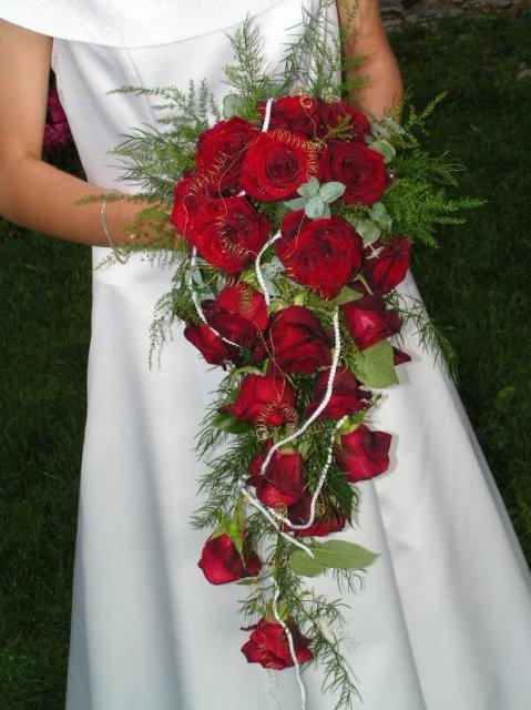 Terezka a Slavko, 6.10.2007 - ..cervene ruze su moje favoritky...:))