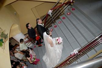 výzdoba na schodoch