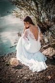 Svatební šaty krajkové šité na zakázku, 34