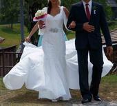 Sleva 75 procent z původní ceny - svatební šaty, 36