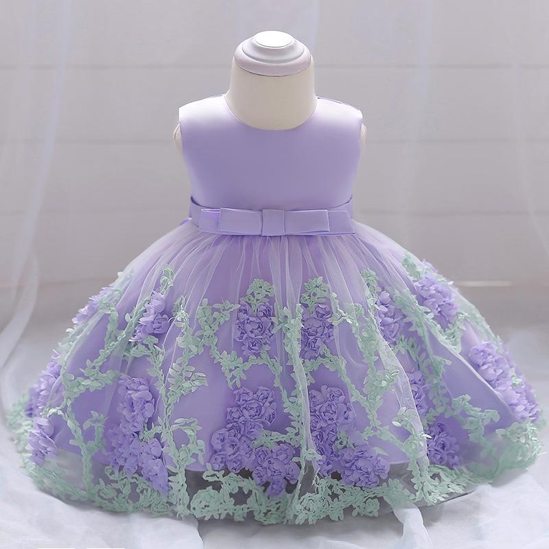 Šaty pre malé princezničky (74 - 98) - Detské šaty L1845XZ - lila (74 - 98) cena 23,90 €