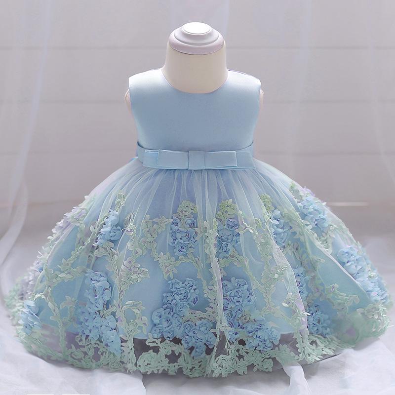 Šaty pre malé princezničky (74 - 98) - Detské šaty L1845XZ - modré (74 - 98) cena 23,90 €