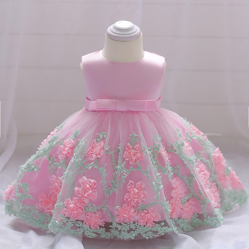Šaty pre malé princezničky (74 - 98) - Detské šaty L1845XZ - ružové (74 - 98) cena 23,90 €
