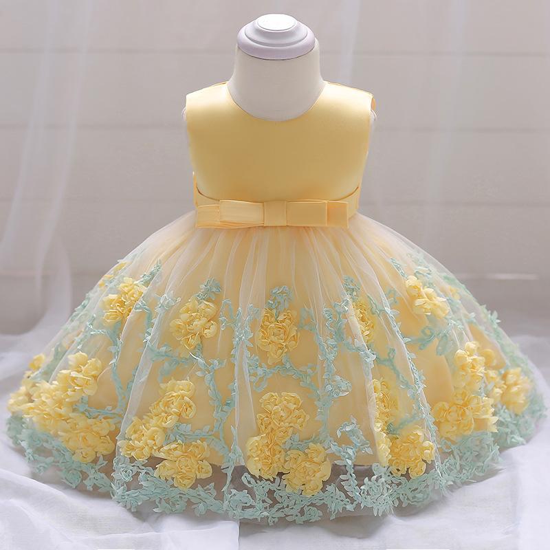 Šaty pre malé princezničky (74 - 98) - Detské šaty L1845XZ - žlté (74 - 98) cena 23,90 €
